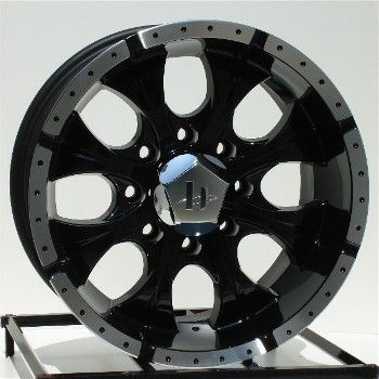 16 inch Black Wheels Rims Chevy GMC 2500 3500 HD Dodge Ram 8x6 5 Lug