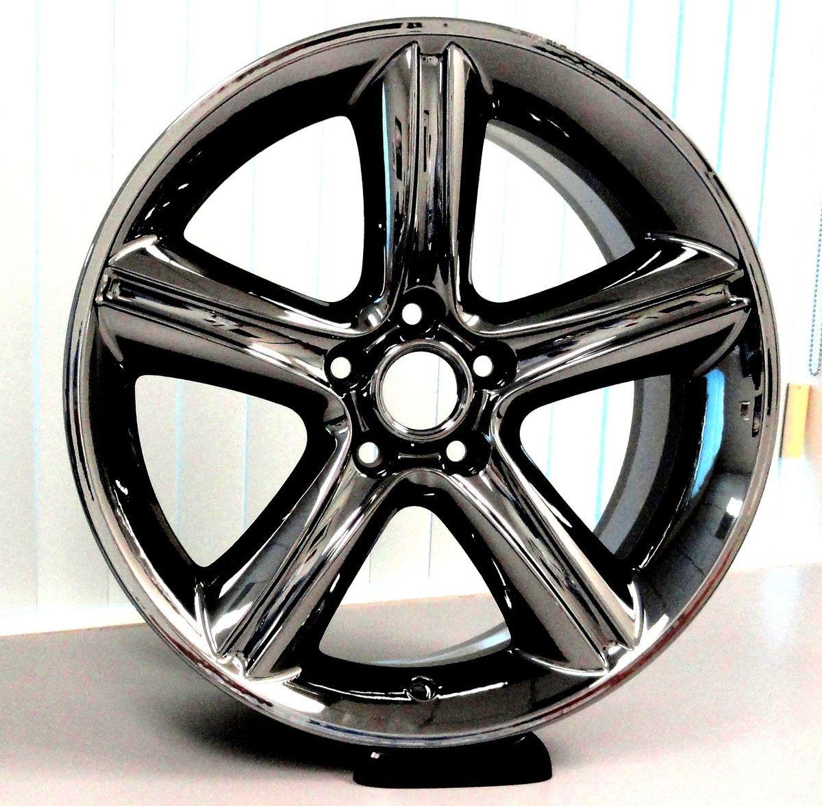 Ford Mustang 2010 2012 19 x 8 5 Black Chrome PVD Wheels Rims