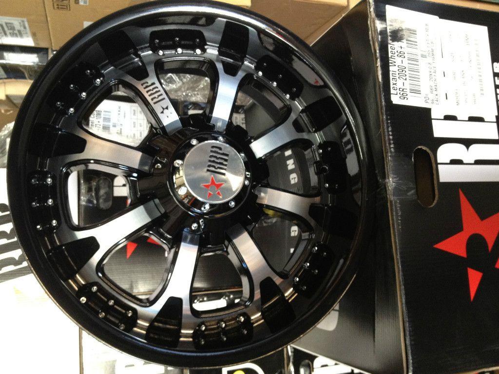 INCH RBP 96R BLACK MACHINED WHEELS RIMS 6x5 5 TON CHEVY SILVERADO H 3