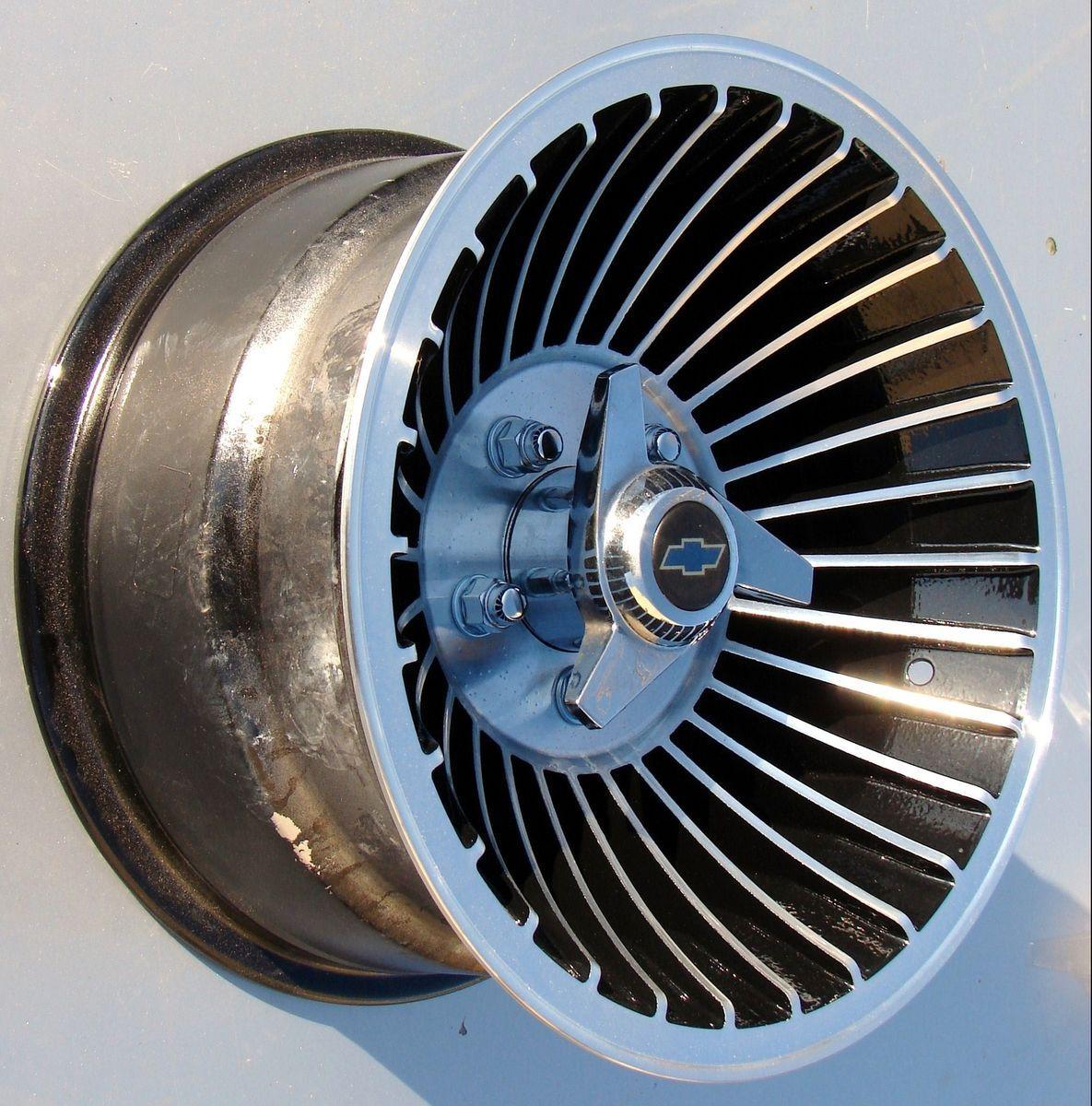 Western Wheels 15X8 5 Cyclone Turbine Wheels Mags Rims 5x5 Chevy Truck