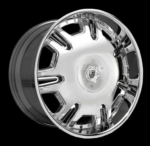Lexani 24 Radiant Wheels Tires Black Chrome Cadillac Escalade Denalli