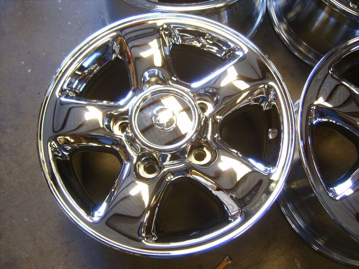 00 01 02 Toyota Land Cruiser 16 Chrome Alloy Wheels Rims 5x150