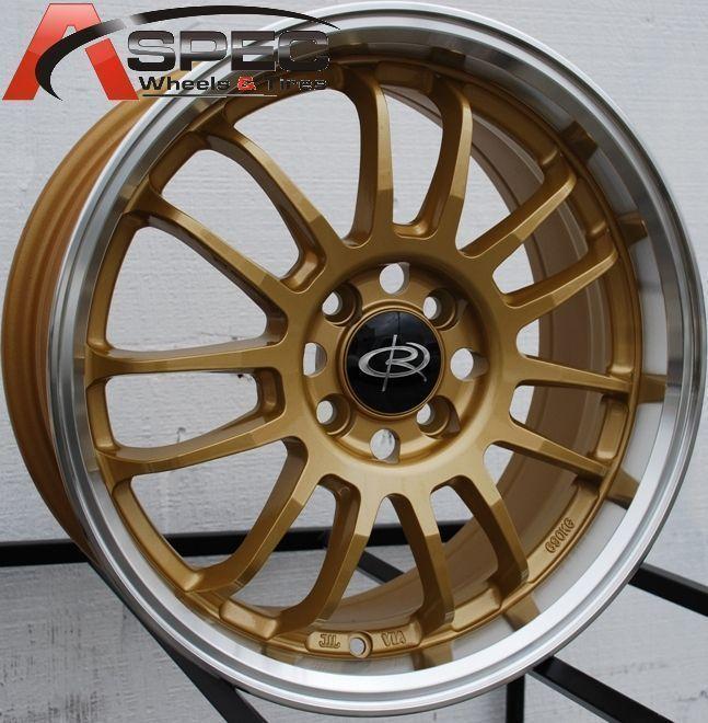Rota SVN 16x7 4x100 ET40 Royal Tommy Gold Rims Wheels