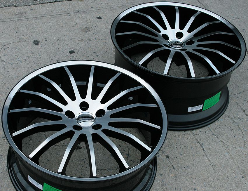 Giovanna Martuni 20 Black Rims Wheels M45 Staggered