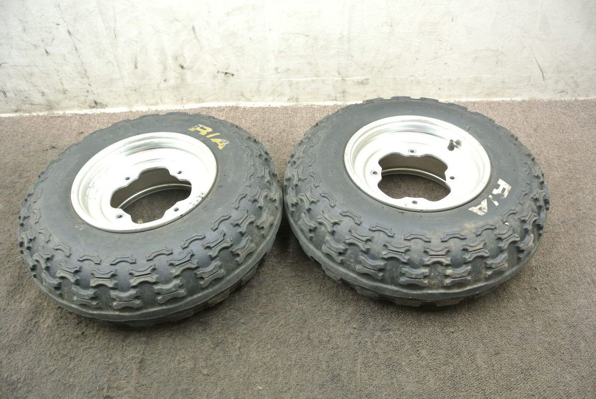 2004 04 Yamaha YFZ450 YFZ 450 Front Wheel Set Rims Tires Wheels