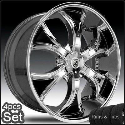 30 Lexani Dial Wheels and Tires Escalade Chevy Ford QX56 RAM Rims