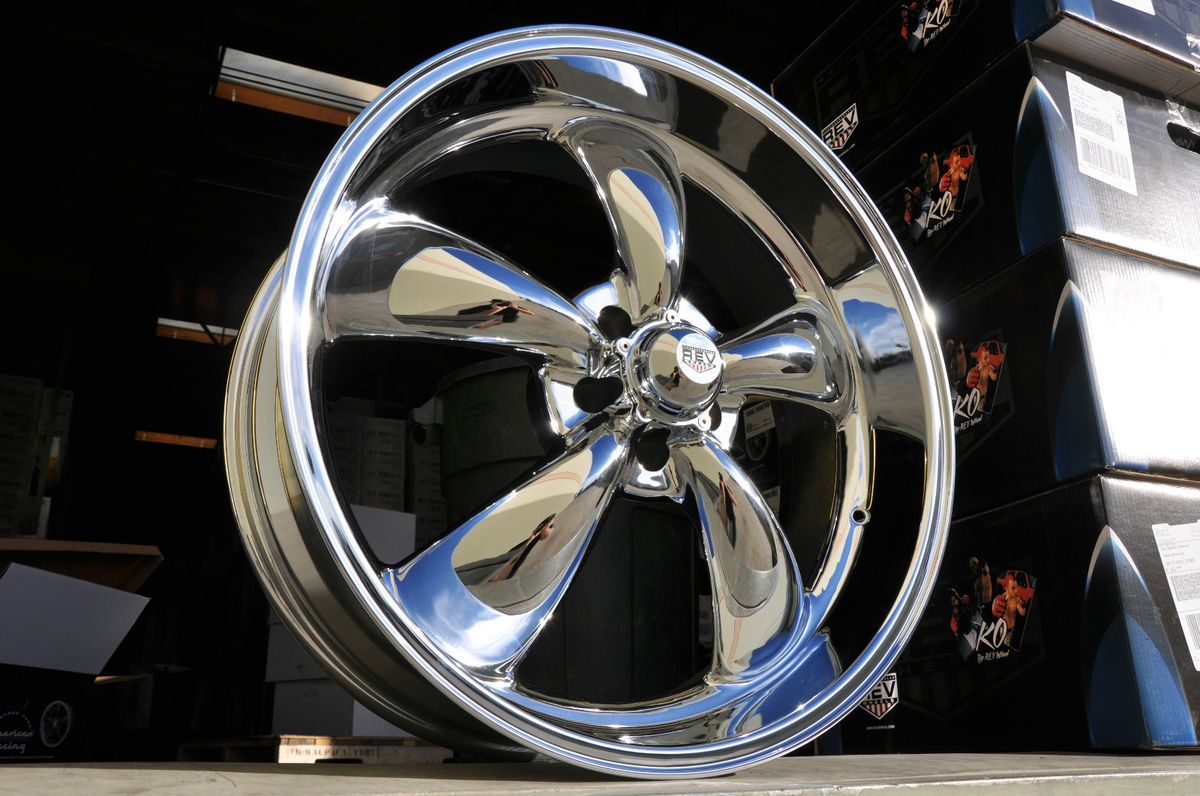 20 American 1969 1973 Ford Mustang Wheels Chrome REV Classic Racing GT