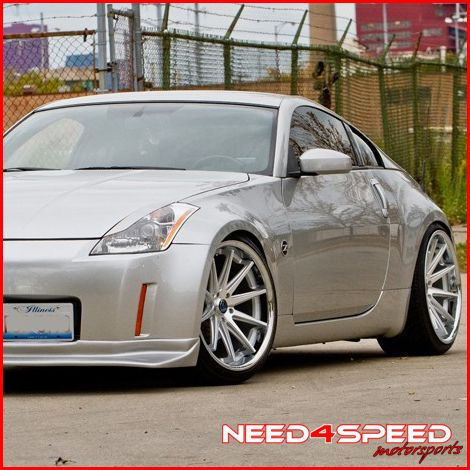 350Z Rohana RC10 Deep Concave Silver Staggered Wheels Rims
