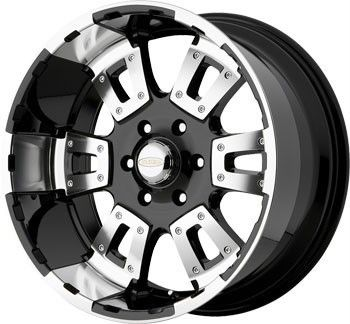 20 inch DIAMO 17 Karat Black Wheels Rims 8x6 5 Dodge RAM 2500 Hummer
