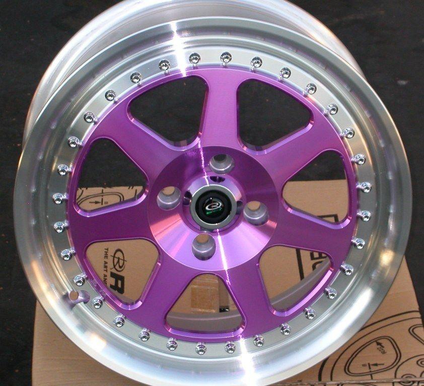 Rota J Mag 15x7 4x100 40 67 1 Royal Purple Rim Wheel