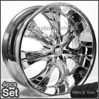 22 inch Wheels Tires Rims Chevy Ford Escalade RAM F150