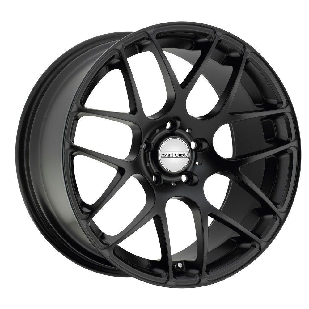 18 Avant Garde M310 Matte Black Wheels Rims Fit Audi A4 A5 A6 A8 S4