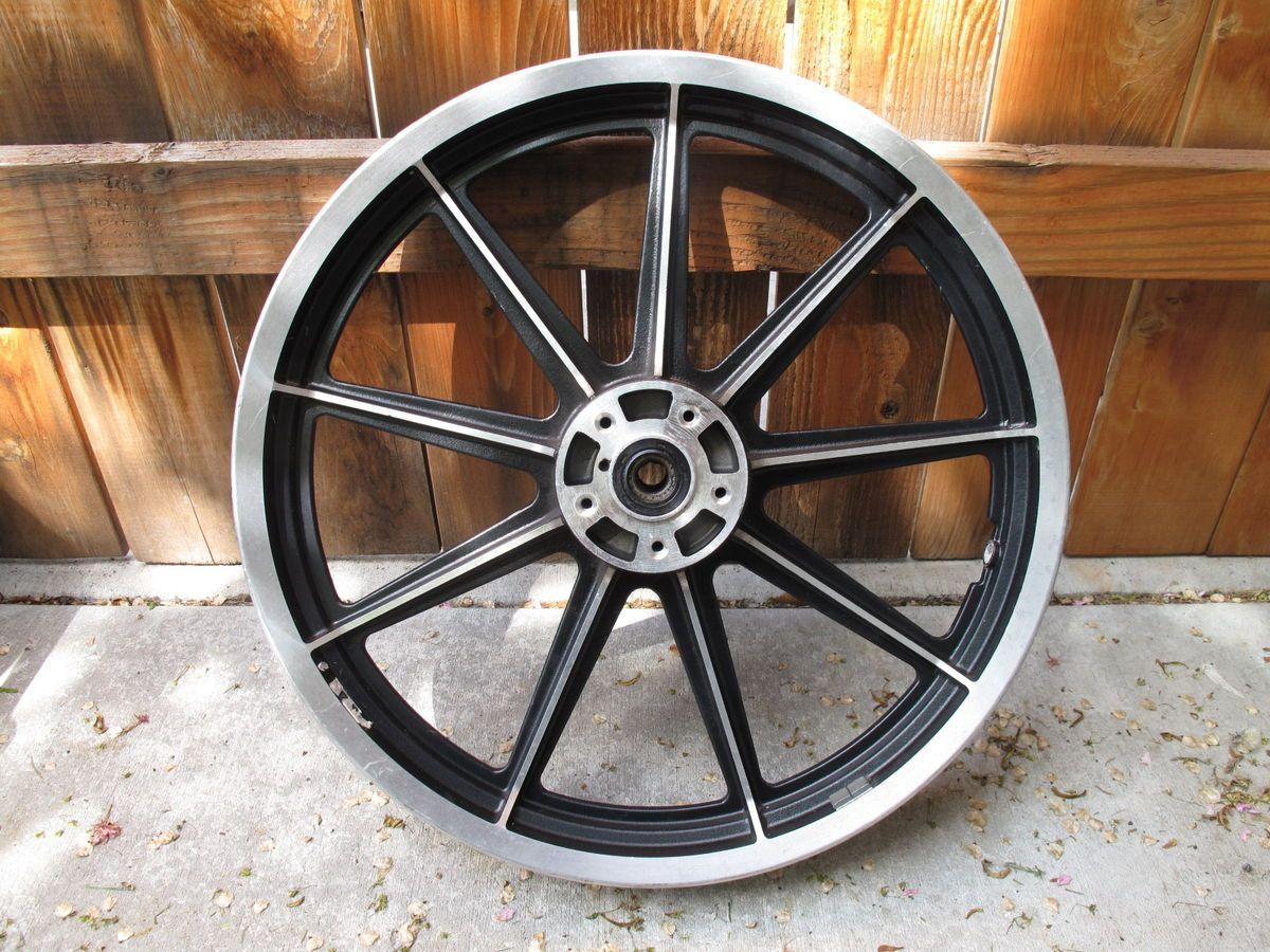 """Harley Davidson 19"""" Front Wheel 9 Spoke Mag FXR Dyna Sportster"""