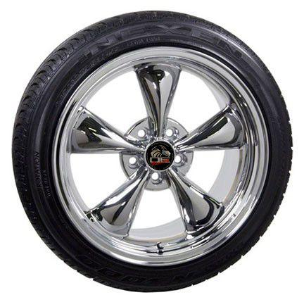 18 Fits Mustang® GT Bullitt Wheels Bullet Rims Tires Chrome