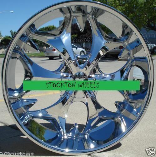 24 inch Wheels Chrome Rims BW3 6x139 7 GMC Yukon 2001 2002 2003 2004