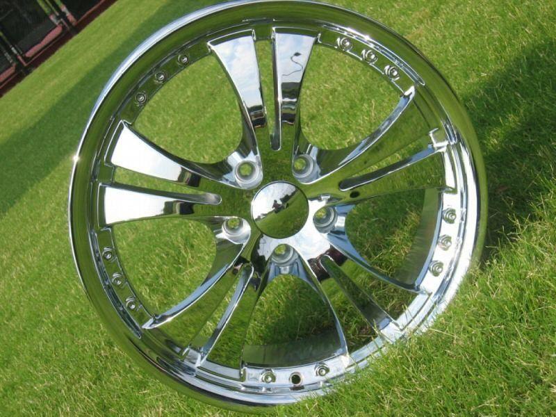 New 18 Chrome Armano Dunamis Rim Wheels Chevy Ford Mustang Nissian