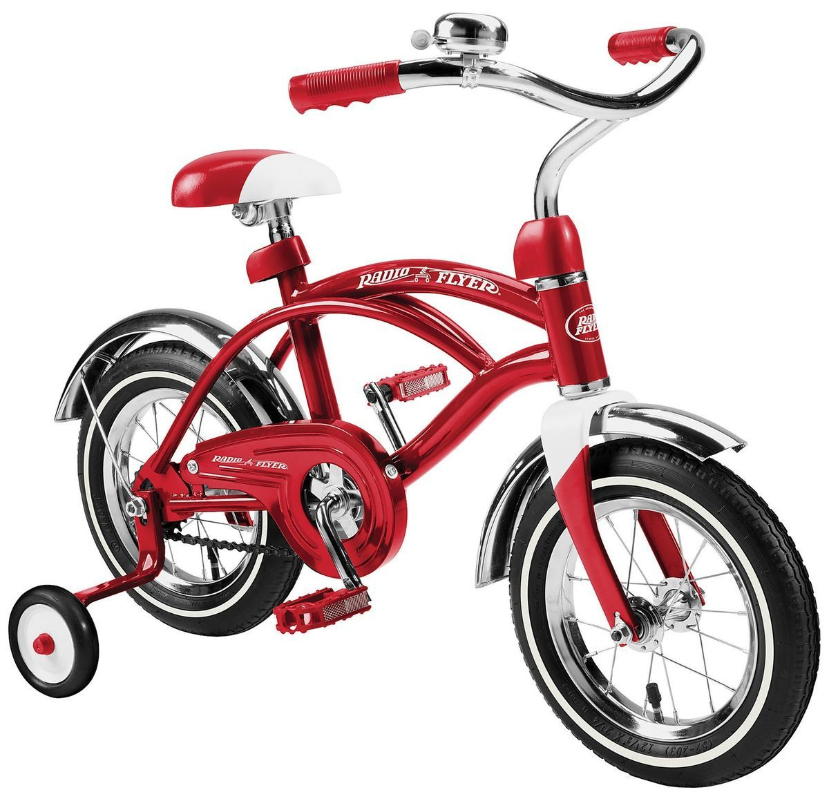 CLASSIC RED CRUISER 12 INCH Bike BOYS BICYCLE BMX TRAINING WHEELS