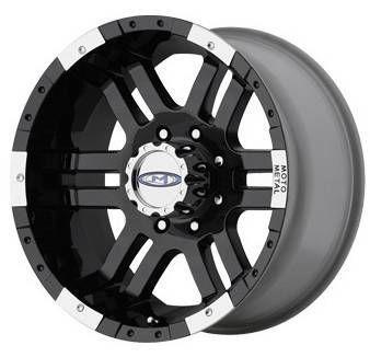 20 inch 951 MO951 Black Offroad Ford GMC Truck Wheels Rims Set