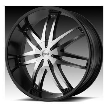 20 Helo 868 Wheel Set XD Rims 20x8 5 Gloss Black Dodge 5LUG 6LUG