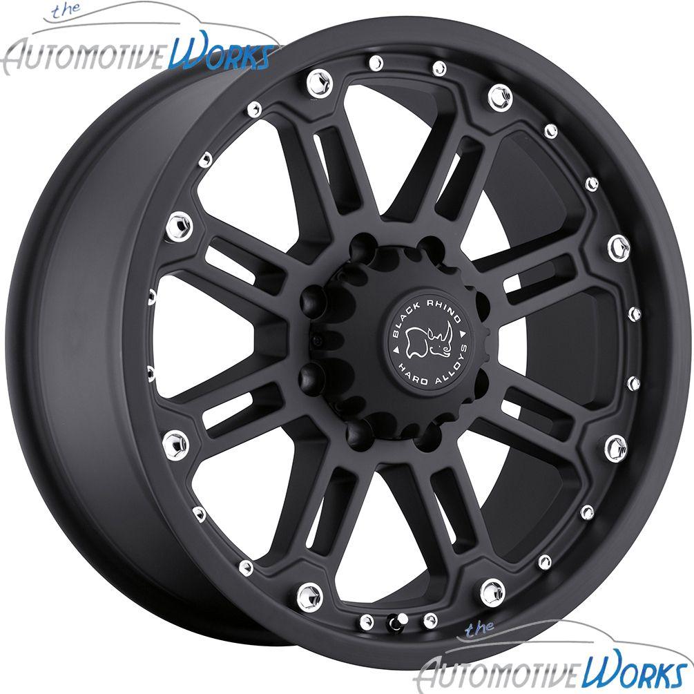 Rockwell 8x165 1 8x6 5 12mm Matte Black Rims Wheels inch 18