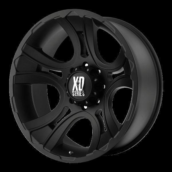 18 inch Black Wheels rims KMC XD 801 FORD F250 350 superduty 8 lug
