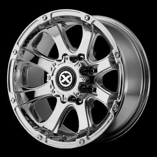 AX 188 18x9 Chrome Chevy Ford Dodge Wheel 8 Lug