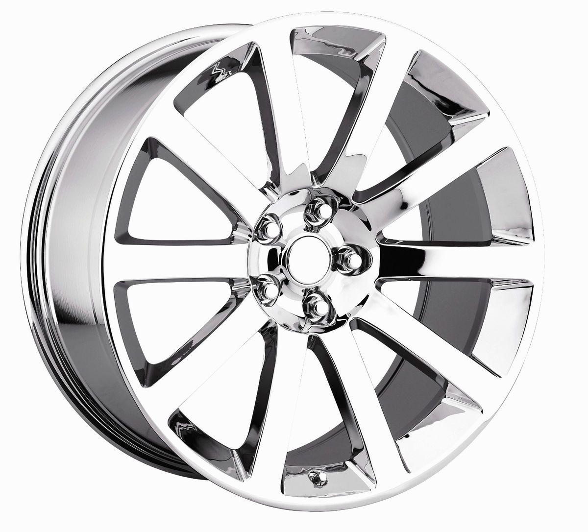 22 Chrome Chrysler 300SRT8 Wheels Tire Fit Dodge Charger Magnum