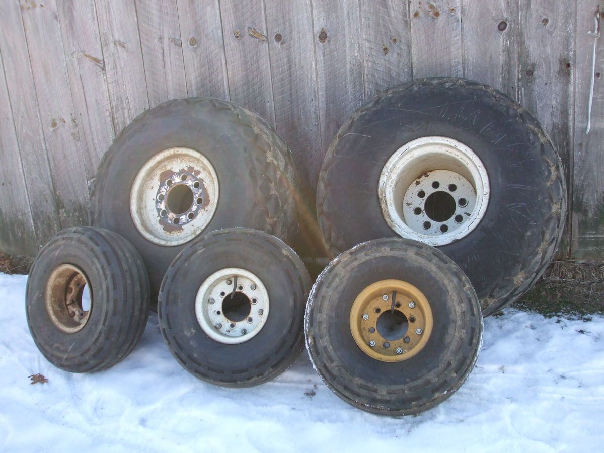 Farm Tractor Wheels And Rims : Set of turf tires with ford rims rear tractor