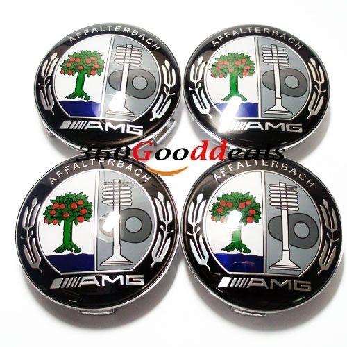 4X Mercedes Benz AMG Wheel Center Hub Cap Emblem SLK ml B C E s CLS