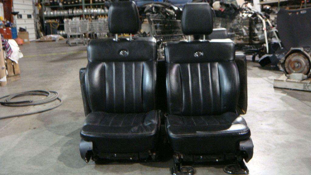 2004 2008 Ford F150 Harley Davidson Complete Black Leather Seat Set