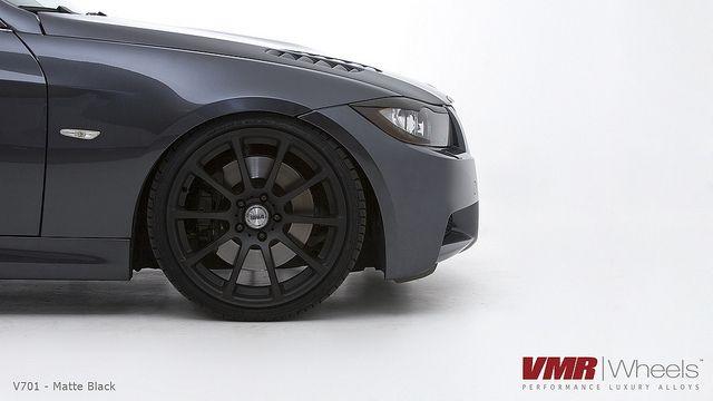 19 VMR V701 Matte Black Wheels Rims Fit BMW 325i 328i 330i 335i 2006