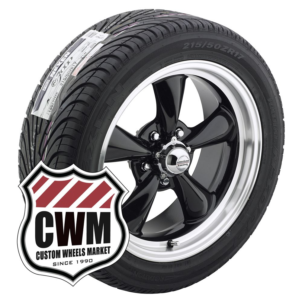 17x7 17x9 Black Wheels Rims Tires 215 50ZR17 245 45ZR17 for Plymouth