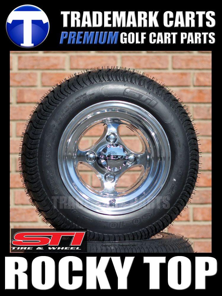 Cart Tires and New 10 Aluminum Wheels Fits EZGO Club Car Yamaha