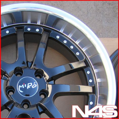 20 Nissan 370Z Miro 361 Black Staggered Wheels Rims