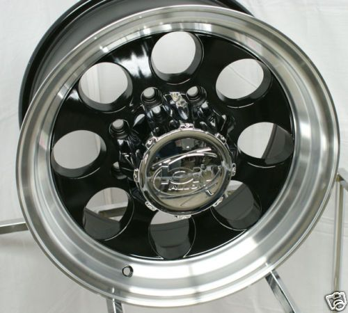 16 inch ion Alloy 171 Ford F 250 350 Black Wheels Rims