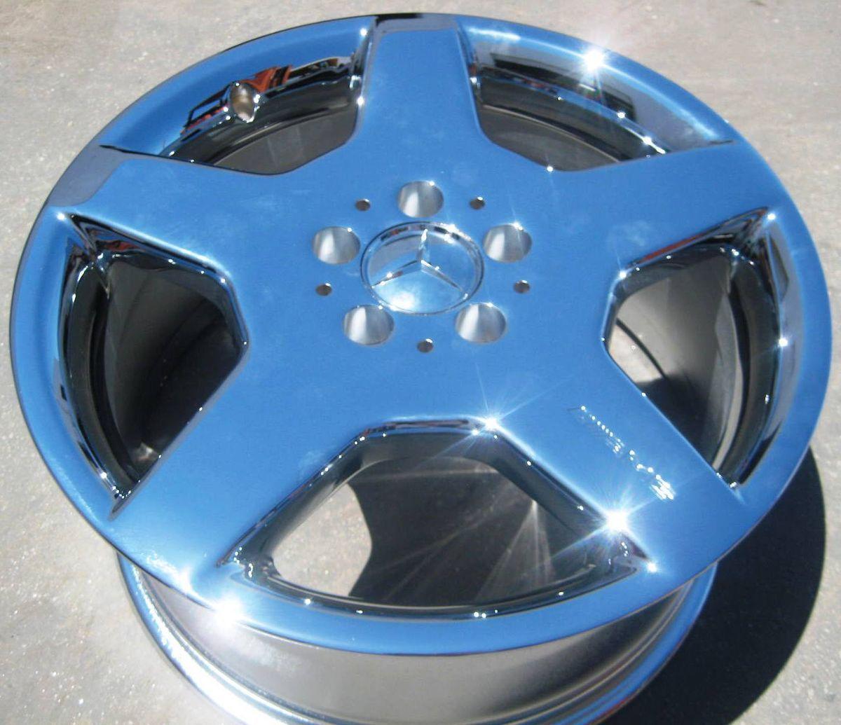 18 Factory Mercedes CL500 S600 AMG Chrome Wheel Rim 1
